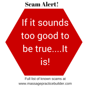 Massage Email and Text Scams