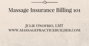 Massage Insurance Billing