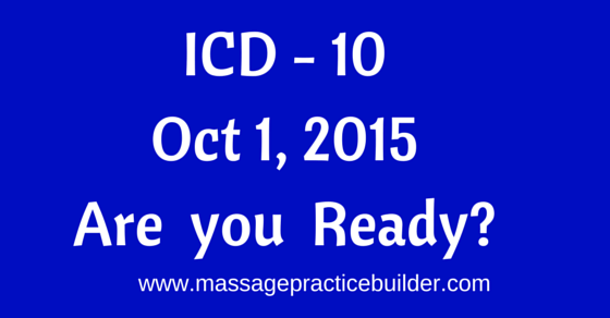 ICD 10 codes for massage therapists