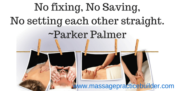 fixing massage clients