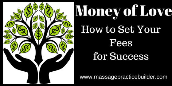 set your massage therapy fees