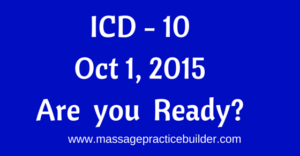 ICD -10 codes for Massage Therapists