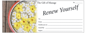The gift of selling massage gift certificates