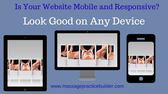 Mobile websites for Massage Therapists