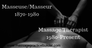 Masseuse/Masseur – what's in a name?