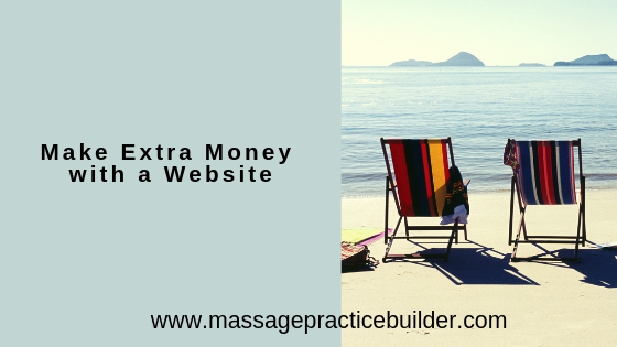 make extra money with a website